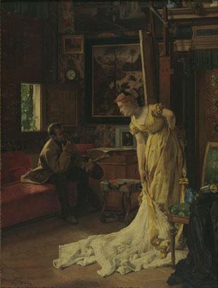 アルフレッド・ステヴァンス《画家のアトリエ》