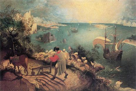 ブリューゲル(?)《イカロスの墜落》