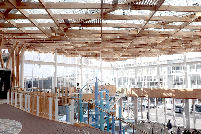 八戸まちなか広場マチニワ(JSCA東北構造デザイン発表会2019で発表)